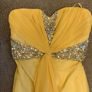 Yellow gem detail gown